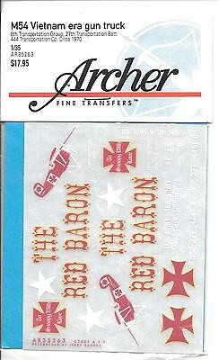 Archer Asciutto Trasferimenti, M54 Vietnam Epoca Pistola Camion, The Red Barone