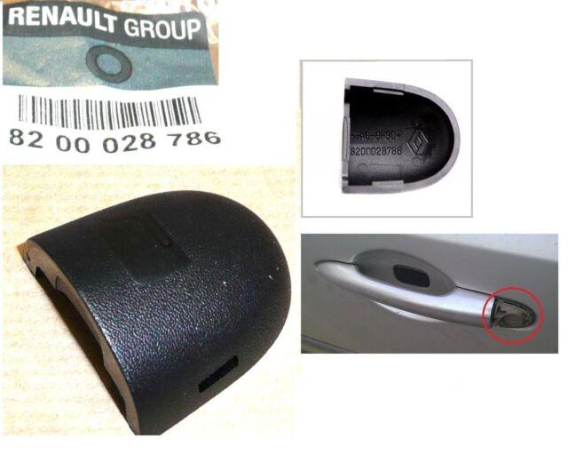 RENAULT SCENIC LAGUNA MEGANE II ESPACE FRONT DOOR HANDLE TRIM CAP COVER BLACK