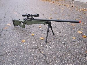 One-AIrSoft-Green-WELL-Tactical-L96-AWP-Airsoft-Sniper-Rifle-W-Scope-Bipod