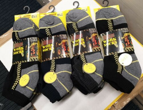 3//6//12 X Pairs Mens Trainer Socks Ankle Socks Cotton Footwear Fit UK Size 6-11