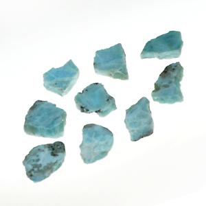 Larimar-Natural-Slice-Cabochon-Rough-103-Grams-9-Slices-Healing-Crystals-Nice