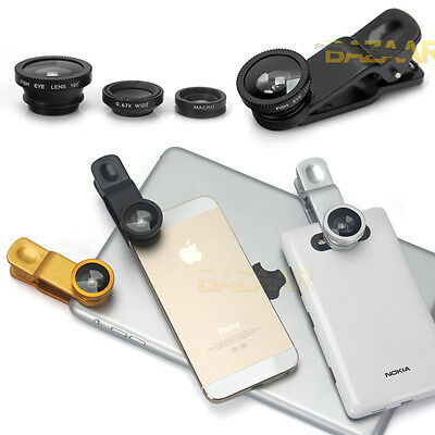 3in1 FishEye + Wide Angle +Macro Camera Clip Taking Good Photos with Your Phone