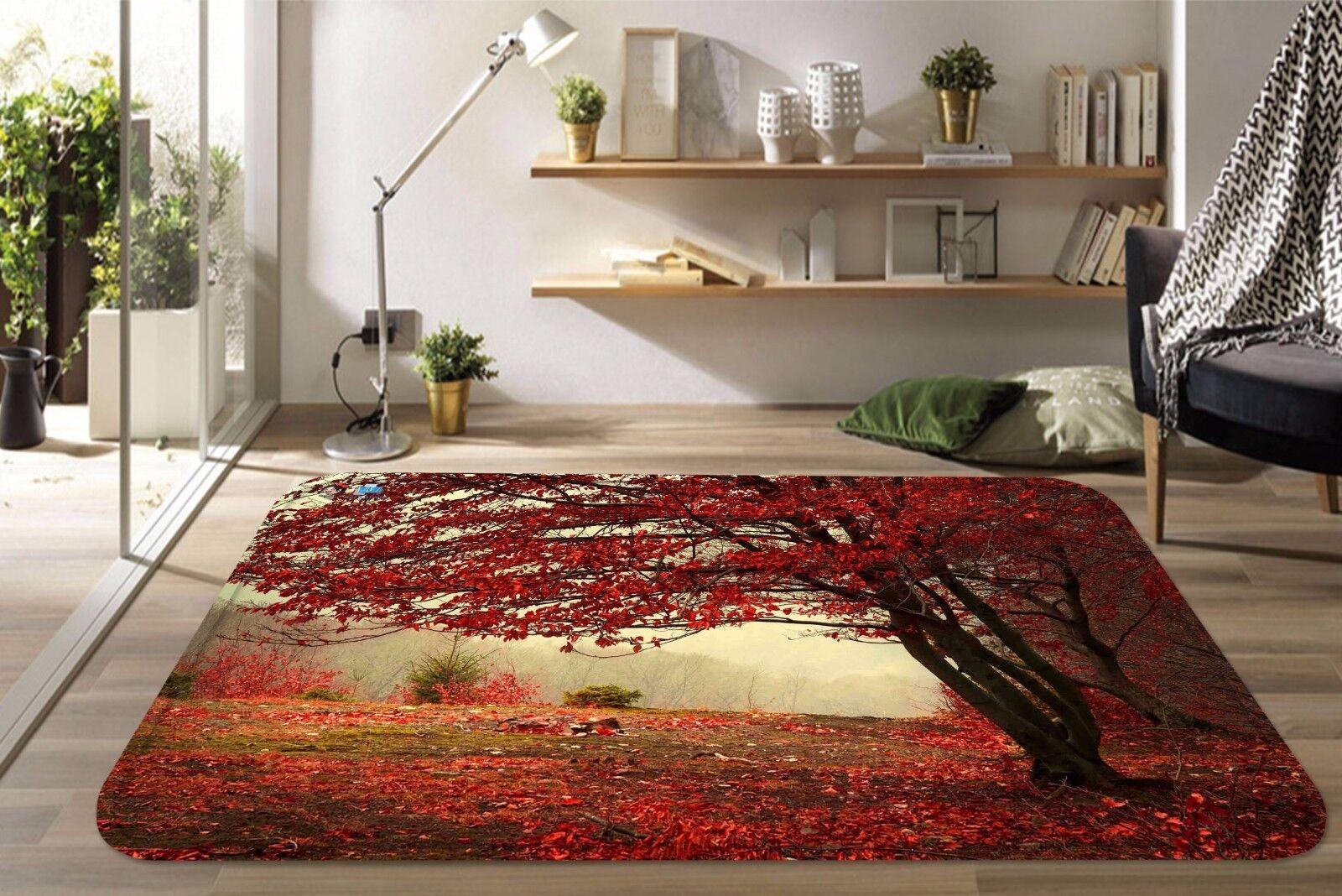 3D Maple Tree 6 Non Slip Rug Mat Room Mat Quality Elegant Photo Carpet AU Summer