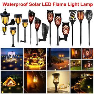 Solaire-Lampe-Torche-96-LED-Feu-Eclairage-Danse-Flamme-Jardin-Lampe