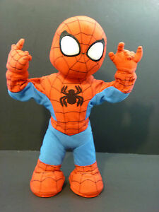 Spider-Man-Itsy-Bitsy-Spiderman-15-039-039-Action-Figure-Toy-Dancing-Singing-Talking