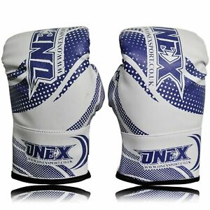 Kids-Boxing-Gel-Blue-Gloves-Sparring-Mitt-Fight-Punch-Bag-MMA-Muay-Thai-Pad