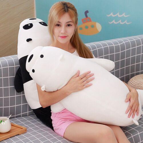 We Bare Bears Plush Panda Grizzly Ice Bear Toys Stuffed Doll Pillow Kids Gifts