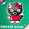 Hello Kitty Graffiti Artist Mask Luggage Car Skateboard Guitar Sticker Decal
