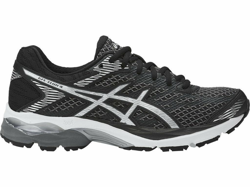 Asics Gel Flux 4 Women's Running T764N-9093 Black Silver Carbon NWT NIB