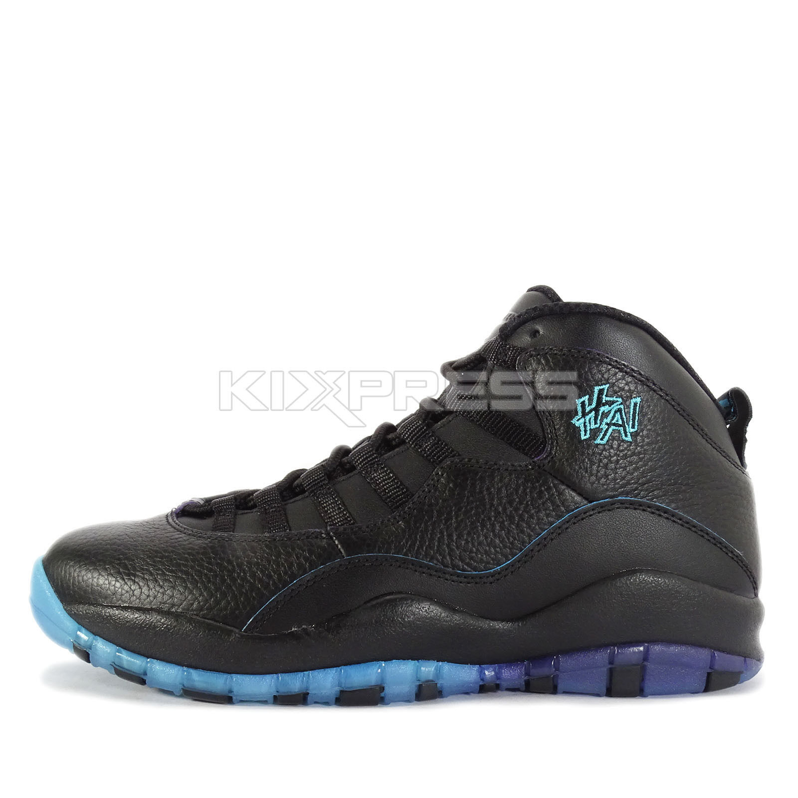 Nike air jordan 10 retro - basketball - shanghai asien schwarz / gamma - blau