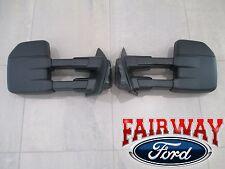 15 thru 17 F-150 OEM Genuine Ford Manual Telescopic Trailer Tow Mirrors PAIR