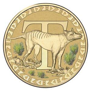 2016-Fair-Dinkum-Aussie-Alphabet-Letter-T-Tasmanian-Tiger-1-One-Dollar-UNC-RAM