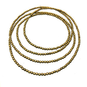 Solid-Brass-Beads-2mm-Strand-30-034-Jewelry-Making-Beading-Craft-Supply-BSB04