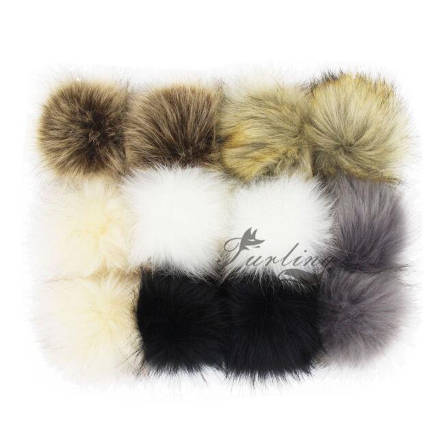 10Pcs Pompom Balls Faux Fur Fluff Craft For DIY Hat Shoes Scarves Bag Charm Tool