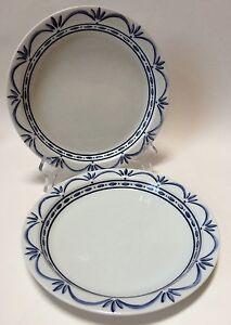2 Dansk Bistro Cafe Norwegian Blue Salad Plates NR-Portugal | eBay