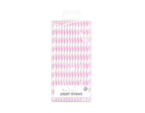 40 Retro Stripe Vintage Paper Drinking Straws Birthday Wedding Cold Drinks Straw