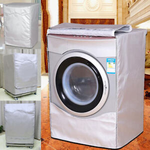 Dust Proof Washing Machine Cover Protector Front Washer Zip Cover-L Style 4