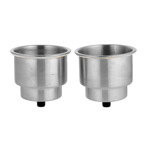 2Pcs Stainless Steel Recessed Cup Drink Holder for Marine Boat Camper