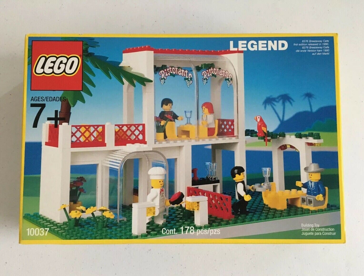 LEGO 6376 Legend Breezeway Cafe (Reissue  10037) Rare Vintage SEALED MINT