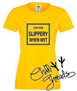 a8c9d6d0fb9 Caution slippery when wet.Adult humour T-shirt premium t shirt ...