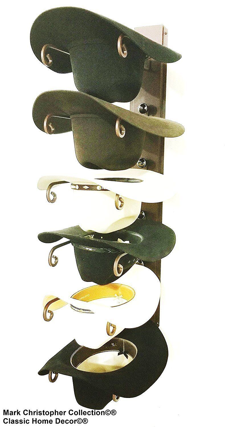 American Made Cowboy Cool Hat Holder Powder Coated Rust 886 BC BLK