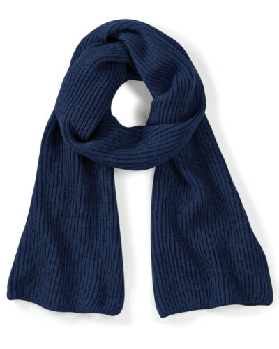 BEECHFIELD KNITTED SCARF SNUG RIBBED KNIT SOFT WARM WINTER UNISEX COLOURS WARMER