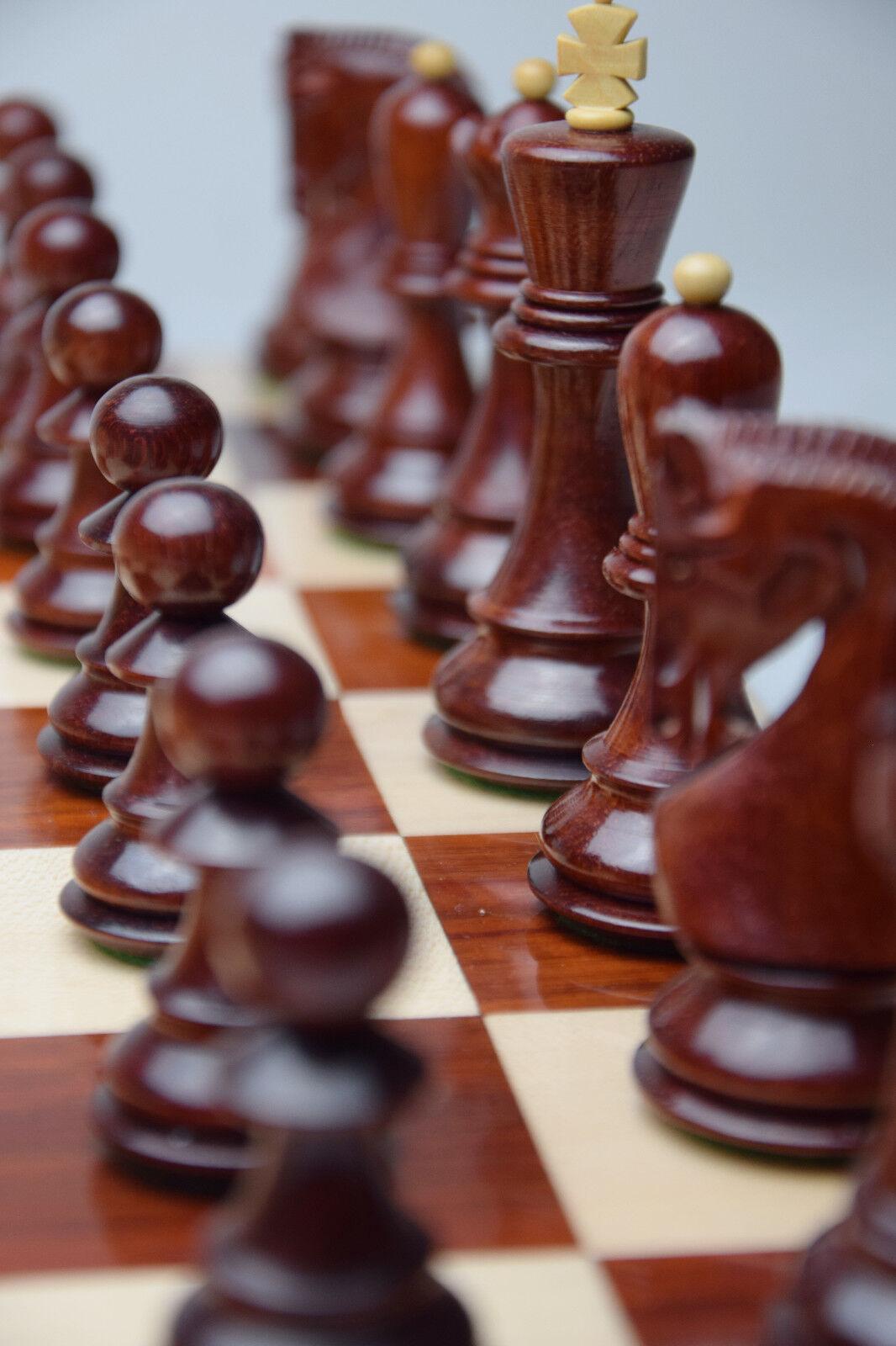 rede rede rede Dämmerung Luxus Schachbrett 18'' Padouk Padauk Feld 55mm Indien Hochglanz b9fcaf