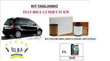 KIT TAGLIANDO OLIO MOTORE TOTAL 5W40 + FILTRI FIAT IDEA 1.3 MULTIJET