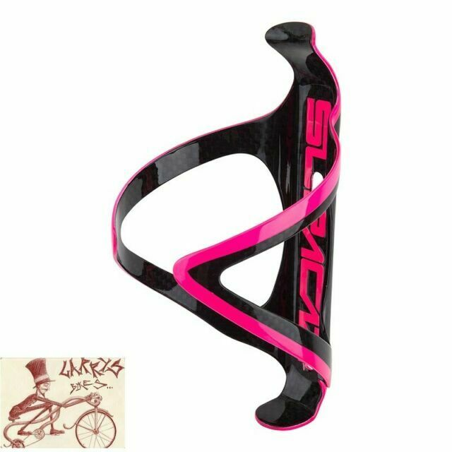 SUPACAZ FLY CAGE CARBON FIBER NEON PINK WATER BOTTLE CAGE