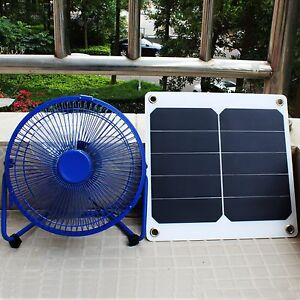 8 Mini Ventilator 10w Sunpower Solar Panel Green House Cooling Fan Ebay