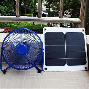 8 Mini Ventilator 10w Sunpower Solar Panel Green House Cooling Fan Ebay