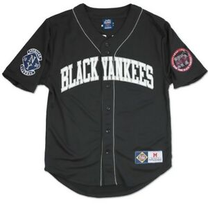 Image is loading NLBM-Negro-Leagues-Baseball-Jersey-New-York-Black- 3ddbe80ed1e