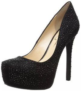 Micro Simpson Jessica Cardigan Strassones Suede 2 Black Platform Shoes gqgIwfa