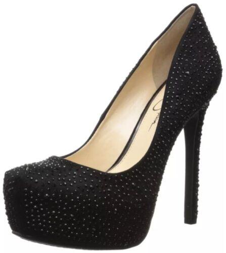 Shoes 2 Black Simpson Cardigan Suede Micro Jessica Platform Strassones wtq8fEcW