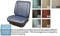 1964 Chevelle Black Front Buckets Seat Covers - Pui