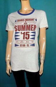 ISABEL MARANT pour ELLE t-shirt summer 2015 en coton gris clair taille M