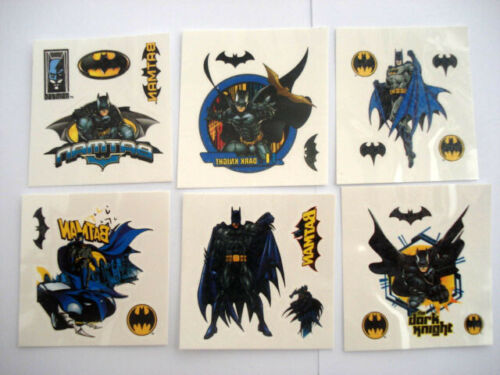 1-60 Batman Temporary Tattoos Childrens Boys Girls Party Favors Bag Stickers