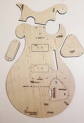 Custom Hybrid Firebird Tele Guitar Body Template 4Tele Neck 3ply