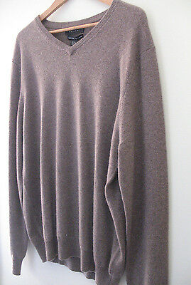 NWT Tahari Pure Luxe 100% Cashmere Men's Handsome Brown V Neck Sweater M $245 | eBay