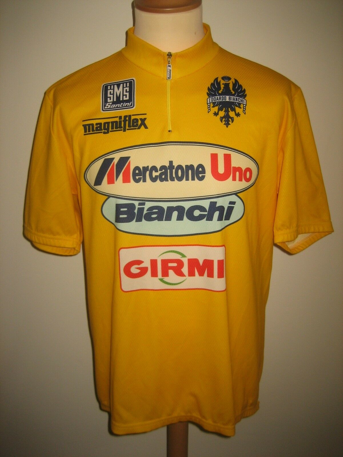 Tour de France Marco PANTANI Mercatone Uno shirt cycling maillot jeune size XXXL