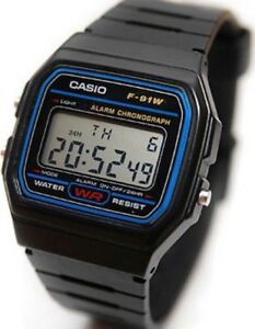 BRAND-NEW-GENUINE-Casio-F-91W-1YER-Stopwatch-Alarm-Classic-Black-Watch-SALE