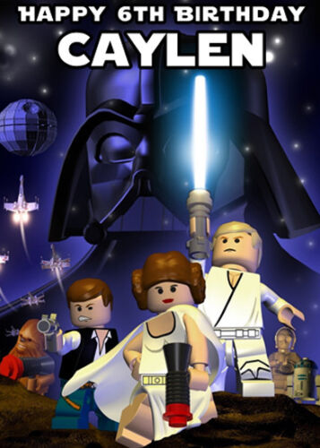 Lego Star Wars Personalised Birthday Card Add Your Own Name Age