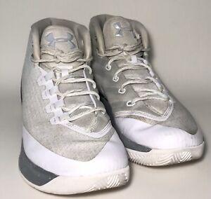 White Grey Basketball Shoes Hightop   eBay