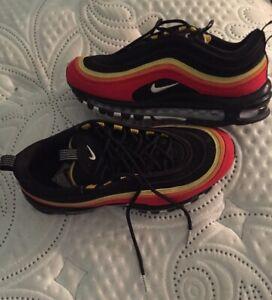 Nike Air Max 97 Qs Men S Size 8 Red Gold Black Orange Mlb Ebay