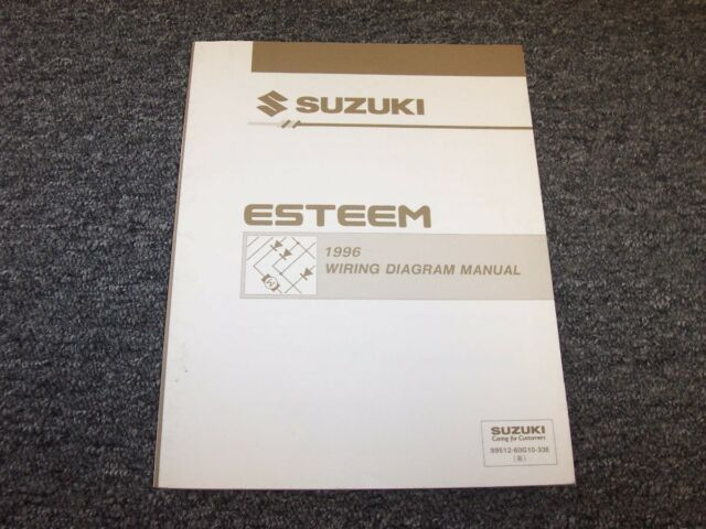 1996 Suzuki Esteem Sedan Factory Electrical Wiring Diagram