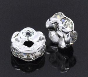 30-Versilbert-Weiss-Strass-Spacer-Perlen-Beads-5mm-D