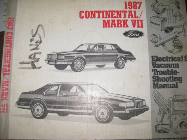 1987 Ford Continental  Mark Vii Evtm  Wiring Manual