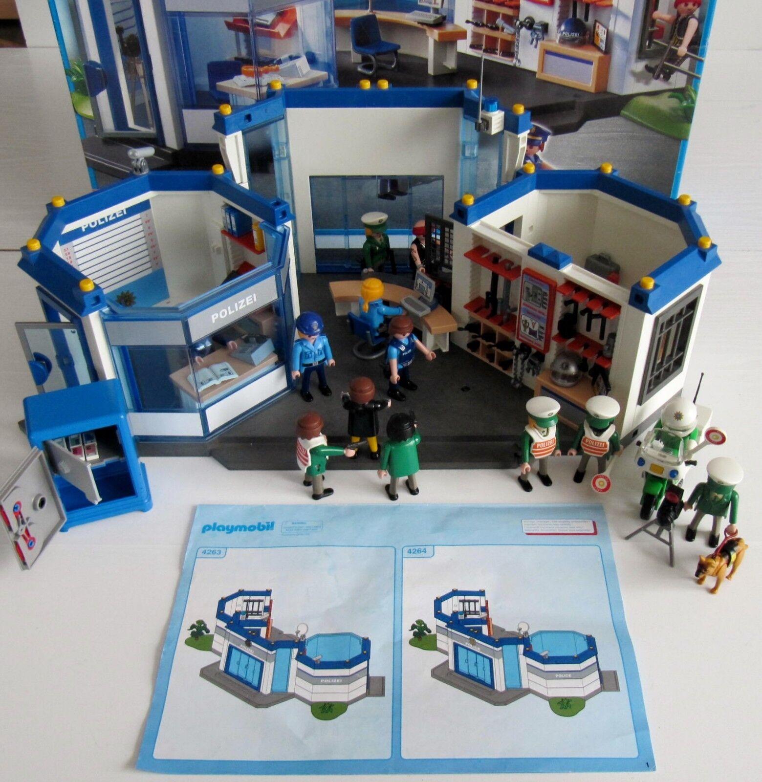 Großes Set  Playmobil Polizeistation 4263  Mit OVP und Bauanleitung  + EXTRAS