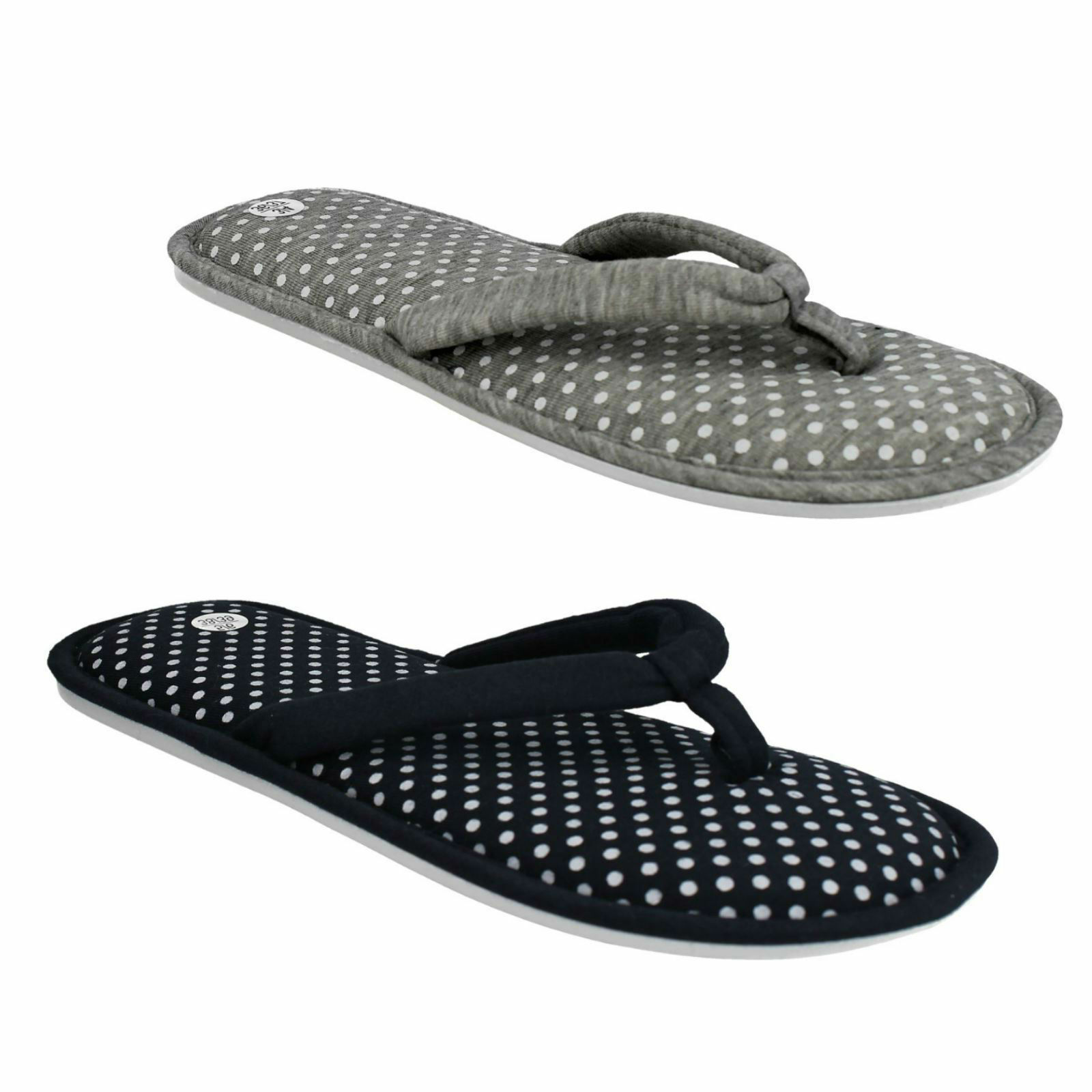 X2100 SPOT ON HOUSE LADIES INDOOR SLIP ON MULES HOUSE ON LOUNGE SLIPPERS f0f699