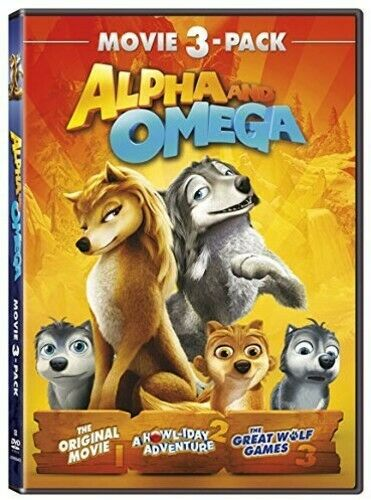 Alpha and Omega 1 (2010) / 2 A Howl-iday Adventure / 3 Great Wolf Games DVD NEW